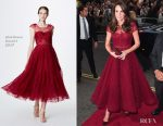 Catherine, Duchess of Cambridge In Marchesa Notte - The Opening Night Of '42nd Street'