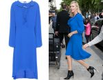 Charlize Theron's Balenciaga swing collar frill dress