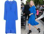 Charlize Theron's Balenciaga swing collar frill dress