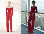 Emma Watson In Gabriela Hearst - 'The Circle' Press Tour