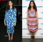 Freida Pinto In Diane von Furstenberg & Temperley London - The Today Show & SiriusXM