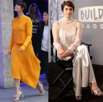 Gemma Arterton In Tibi & Blumarine - The One Show & BUILD LDN