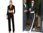 Gigi Hadid's Alessandra Rich tracksuit top & pants