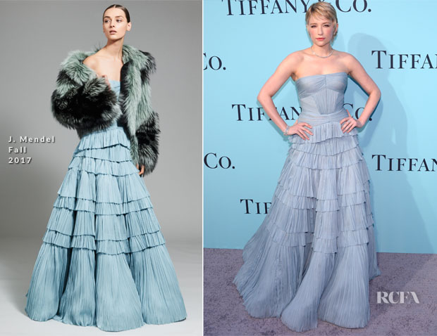 Haley Bennett In J Mendel Tiffany Co 2017 Blue Book Collection Gala