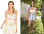 Jamie Chung's For Love and Lemons 'Limonada' crop top