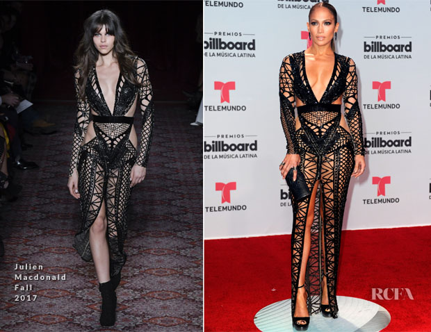 Jennifer Lopez In Julien Macdonald 2017 Billboard Latin Music Awards