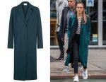 Jessica Alba's Sandro BAO twill coat