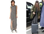 Jessica Alba's The Great the sleeveless knotted tank dress