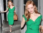 Jessica Chastain In Oscar de la Renta - The Late Late Show with James Corden