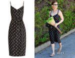 Kate Mara's HVN Lily Harley's Comet-print silk slip dress
