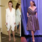 Katie Holmes In Philosophy di Lorenzo Serafini & Zac Posen - Good Morning America & The Tonight Show Starring Jimmy Fallon