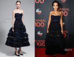 Kerry Washington In J. Mendel -  ABC's Scandal 100th Episode Celebration