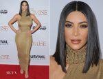 Kim Kardashian In Vintage Gianni Versace -  'The Promise' LA Premiere
