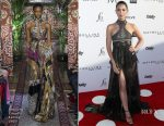 Lily Aldridge In Roberto Cavalli - Daily Front Row's 3rd Annual Fashion Los Angeles Awards