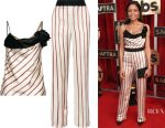 Naomie Harris' Lanvin striped top & pants