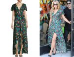 Paris Hilton's Alice + Olivia Adrianna floral-print maxi dress