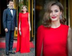 Queen Letizia of Spain In Stella McCartney - King Willem-Alexander of The Netherlands Birthday Party