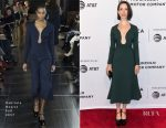 Rebecca Hall In Gabriela Hearst - 'Permission' Tribeca Film Festival Premiere