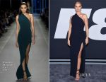 Rosie Huntington-Whiteley In Brandon Maxwell - 'The Fate Of The Furious' New York Premiere