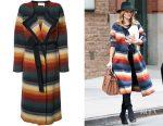 Rosie Huntington-Whiteley's Chloe felted degrade coat