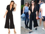 Sara Sampaio's Faithful The Brand Cedric jumpsuit & Ports 1961 sneakers