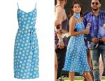 Selena Gomez's HVN Lily Falling floral-print dress