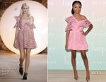 Skai Jackson In Self-Portrait - harper x Harper's BAZAAR May Issue Event
