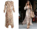 Sofia Vergara's Zimmermann Aerial Flounce silk dress