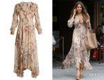 Sofia Vergara's Zimmermann Aerial Flounce silk dress