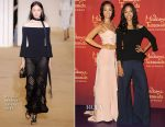 Zoe Saldana In Roland Mouret - Wax Figure Unveiling at Madame Tussauds