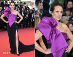 Andie Macdowell In Roberto Cavalli Couture - 'The Meyerowitz Stories' Cannes Film Festival Premiere