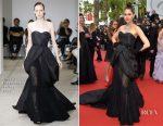 Araya A. Hargate In Olivier Theyskens - 'Loveless (Nelyubov)' Cannes Film Festival Premiere
