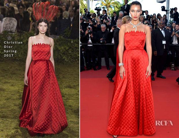 Bella Hadid In Dior Couture Okja Cannes Film Festival Premiere