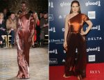 Debra Messing In Christian Siriano - 28th Annual GLAAD Media Awards
