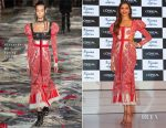 Deepika Padukone In Alexander McQueen - L'Oreal Paris Unveils The Cannes Collection 2017