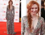 Eleanor Tomlinson In Naeem Khan - Virgin TV BAFTA Television Awards