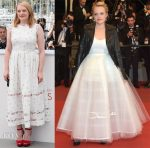 Elisabeth Moss In Emilia Wickstead & Oscar de la Renta - 'The Square' Cannes Film Festival Photocall & Premiere