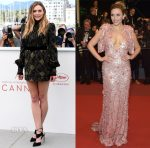 Elizabeth Olsen In Marc Jacobs & Miu Miu - 'Wind River' Cannes Film Festival Photocall & Premiere