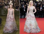 Elle Fanning In Christian Dior Couture - Cannes Film Festival 70th Anniversary Celebration