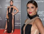 Eva Longoria In Balmain - L'Oreal's 20th Birthday Gala