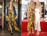 Goldie Hawn In Cinq à Sept & Kate Hudson In Jonathan Simkhai - Hollywood Walk of Fame Unveiling