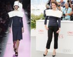 Jeanne Balibar In Jacquemus - 'Barbara' Cannes Film Festival Photocall