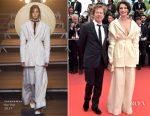Jeanne Balibar In Jacquemus - 'Loveless (Nelyubov)'  Cannes Film Festival Premiere