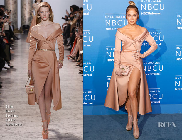 Jennifer Lopez In Elie Saab Couture 2017 Nbcuniversal Upfront Red Carpet Fashion Awards