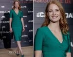 Jessica Chastain In Mugler - 'Miss Sloane' Madrid Photocall