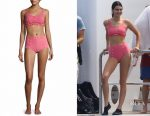 Kendall Jenner's Lisa Marie Fernandez two-piece Colby ruffle button bikini