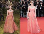 Kristin Scott Thomas In Christian Dior Couture - Cannes Film Festival 70th Anniversary Celebration