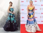 Laura Whitmore In Safiyaa - Virgin TV BAFTA Television Awards