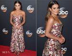 Lea Michele In J. Mendel - 2017 ABC Upfront