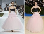 Lily Collins In Giambattisa Valli Couture - 2017 Met Gala